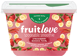 fruitlove strawberry banana twirl smoothie