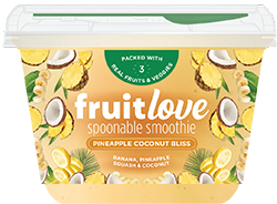 fruitlove pineapple coconut bliss smoothie